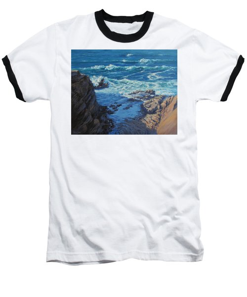 Baseball T-Shirt featuring the painting Ebb And Flow by Karen Ilari