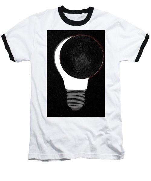 Baseball T-Shirt featuring the drawing Eclipse by John Haldane