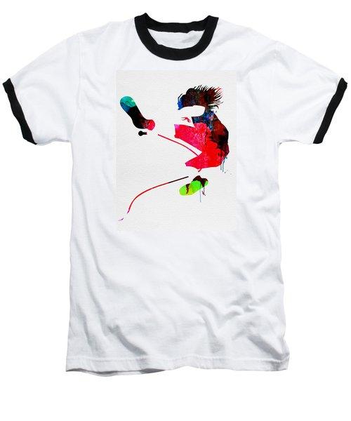 Eddie Watercolor Baseball T-Shirt by Naxart Studio