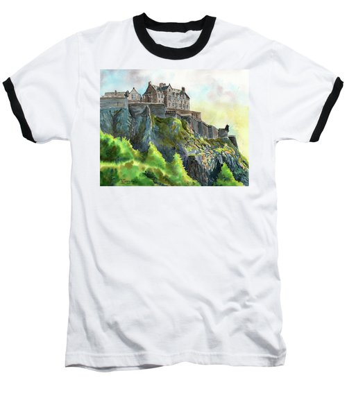 Edinburgh Castle From Princes Street Baseball T-Shirt