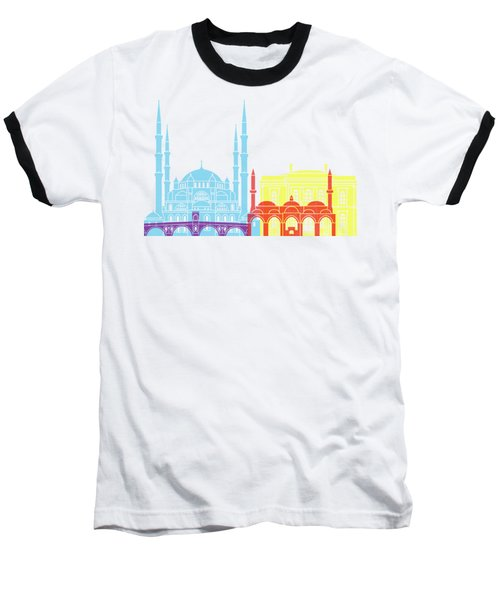 Edirne Skyline Pop Baseball T-Shirt