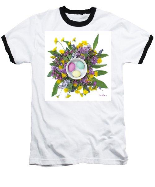 Baseball T-Shirt featuring the digital art Eggs In A Bowl by Lise Winne