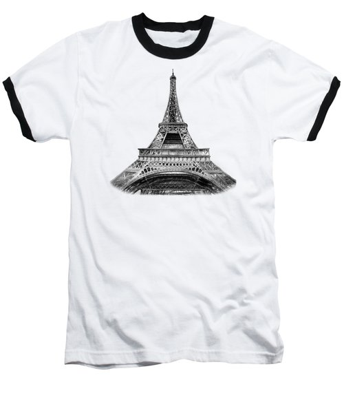 Eiffel Tower Design Baseball T-Shirt