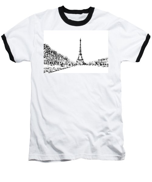Eiffel Tower Baseball T-Shirt by ISAW Gallery