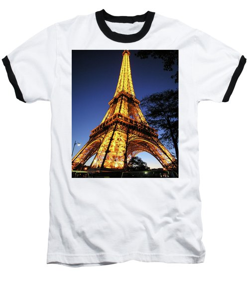 Baseball T-Shirt featuring the photograph Eiffel Tower by Jim Mathis