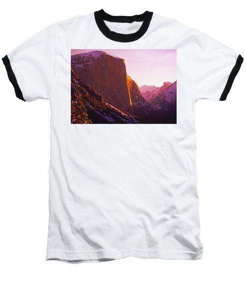 El Capitan And Half Dome, Yosemite N.p. Baseball T-Shirt