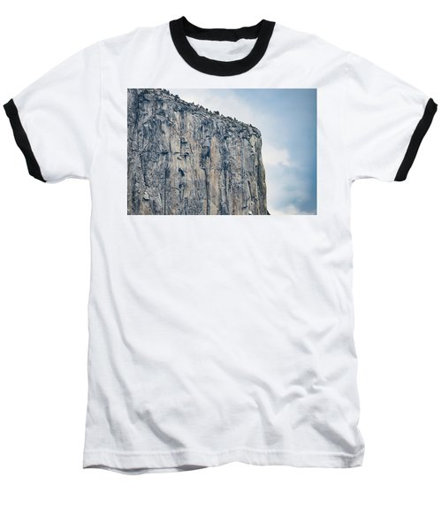 El Capitan Up Close And Personal From Tunnel View Yosemite Np Baseball T-Shirt