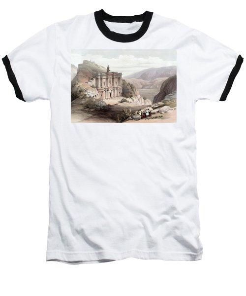 El Deir Petra 1839 Baseball T-Shirt by Munir Alawi