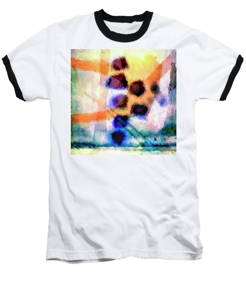 Baseball T-Shirt featuring the painting El Paso Del Tiempo by Dominic Piperata