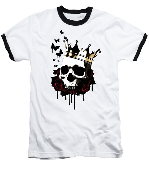 Baseball T-Shirt featuring the digital art El Rey De La Muerte by Nicklas Gustafsson