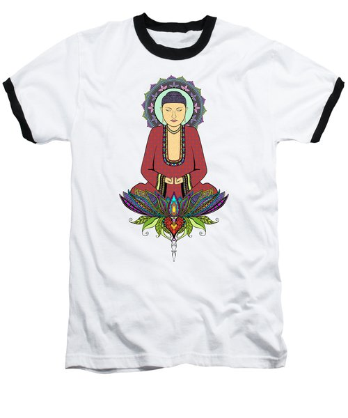 Baseball T-Shirt featuring the drawing Electric Buddha by Tammy Wetzel