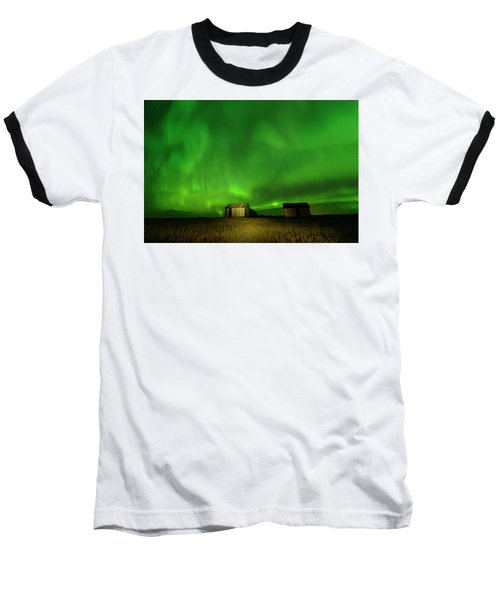 Electric Green Skies Baseball T-Shirt