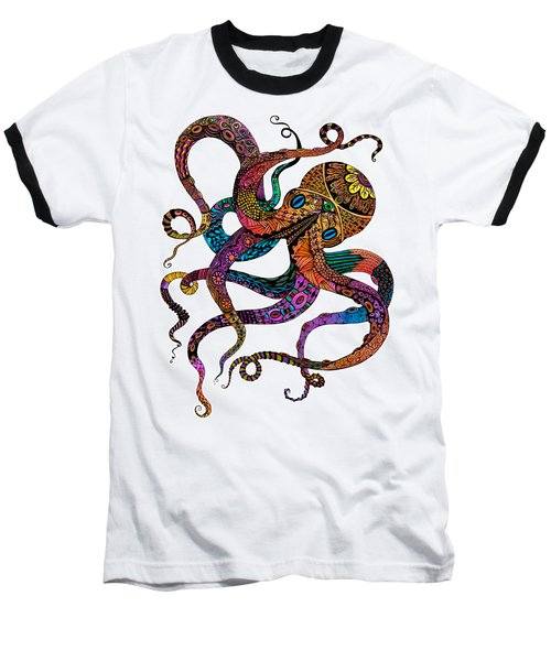 Electric Octopus Baseball T-Shirt by Tammy Wetzel
