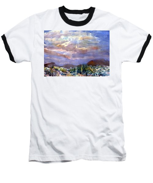 Electric Sunset Baseball T-Shirt by Donald Maier