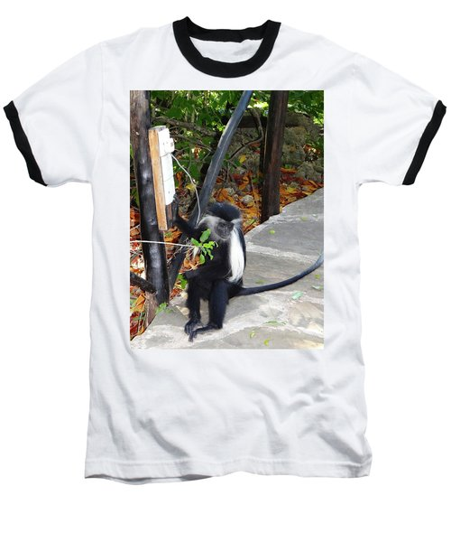 Electrical Work - Monkey Power Baseball T-Shirt