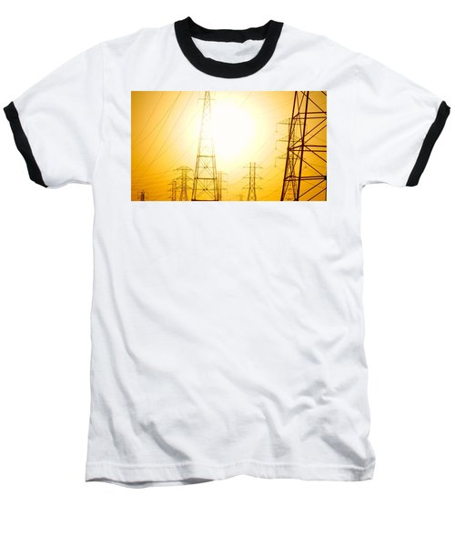 Electricity Towers Baseball T-Shirt