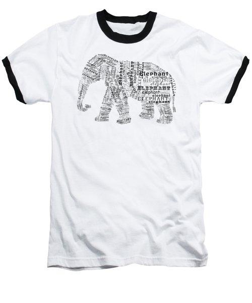 Elefont Noir Baseball T-Shirt