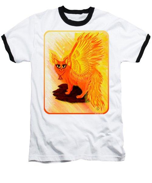 Elemental Fire Fairy Cat Baseball T-Shirt