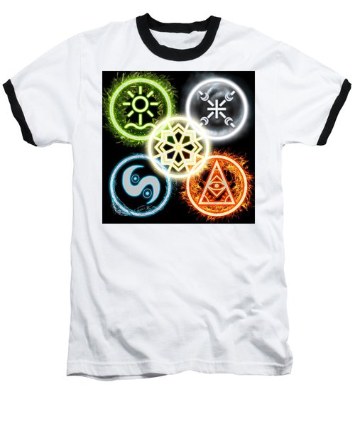 Baseball T-Shirt featuring the digital art Elements Of Nature by Shawn Dall