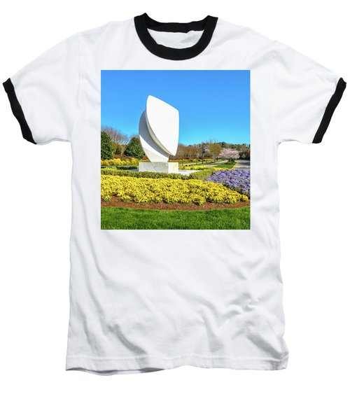 Elements Sculpture At Christopher Newport University In Springtime Baseball T-Shirt