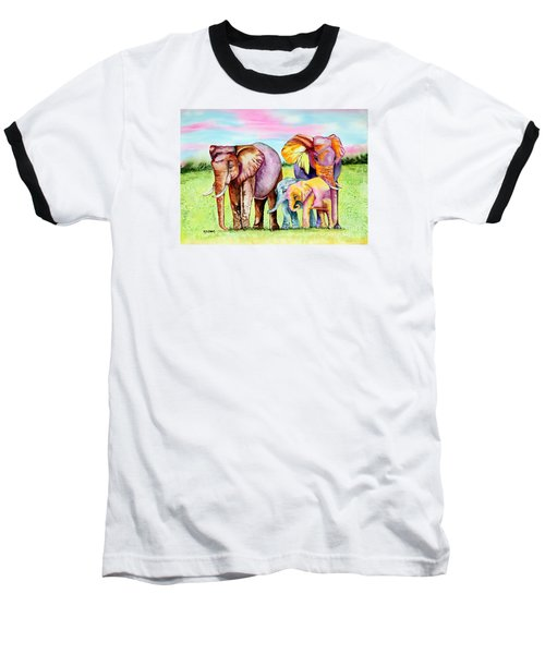 Baseball T-Shirt featuring the painting Elephant Aura by Maria Barry