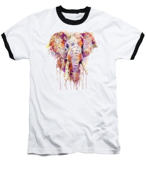 Elephant  Baseball T-Shirt by Marian Voicu