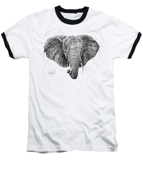 Elephant Baseball T-Shirt by Michael Volpicelli