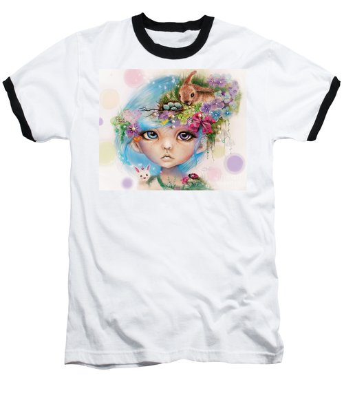 Eliza - Easter Elf - Munhkinz Character Baseball T-Shirt by Sheena Pike