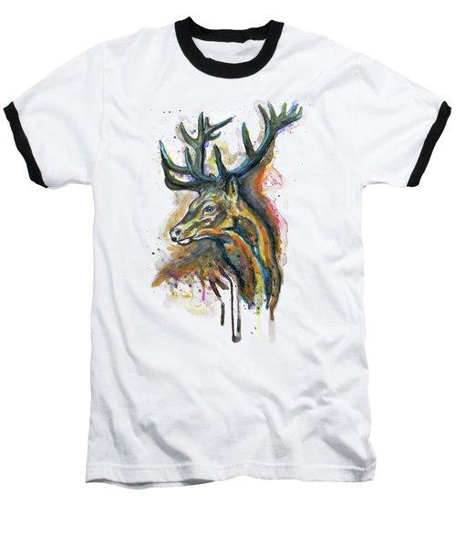 Elk Head Baseball T-Shirt
