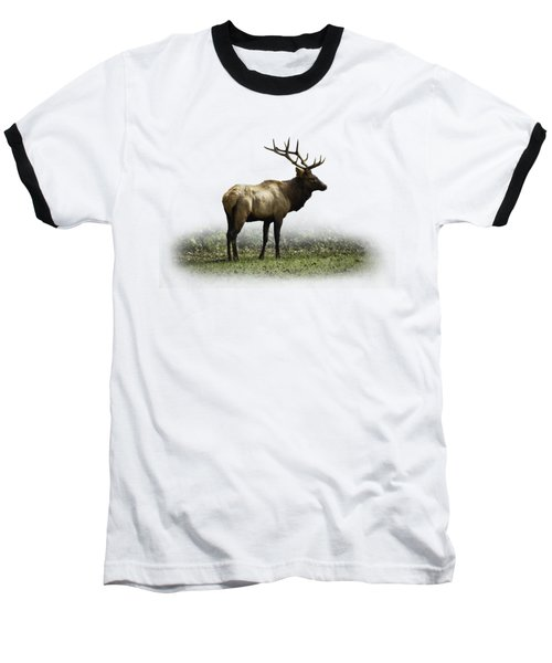 Baseball T-Shirt featuring the photograph Elk IIi by Debra and Dave Vanderlaan