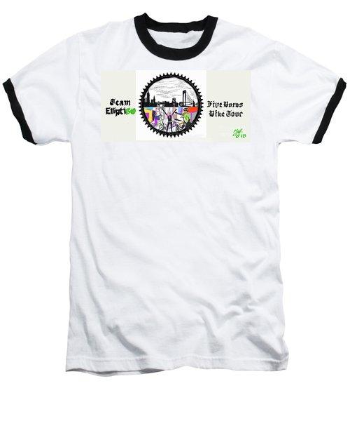 elliptiGO meets the 5 boros bike tour Baseball T-Shirt
