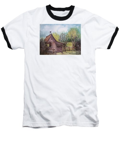 Baseball T-Shirt featuring the painting Elma's Horse Barn by Gretchen Allen