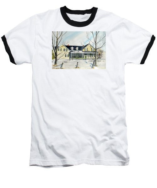 Baseball T-Shirt featuring the painting Elmridge Farm House by Jackie Mueller-Jones