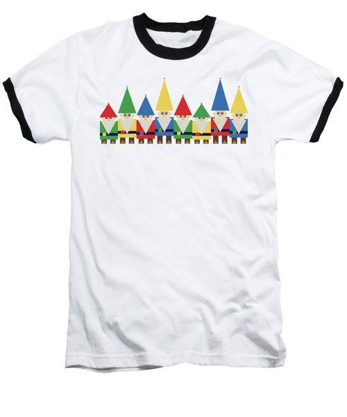 Elves On White Baseball T-Shirt