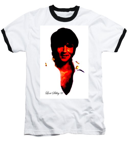 Elvis By Loxi Sibley Baseball T-Shirt by Loxi Sibley