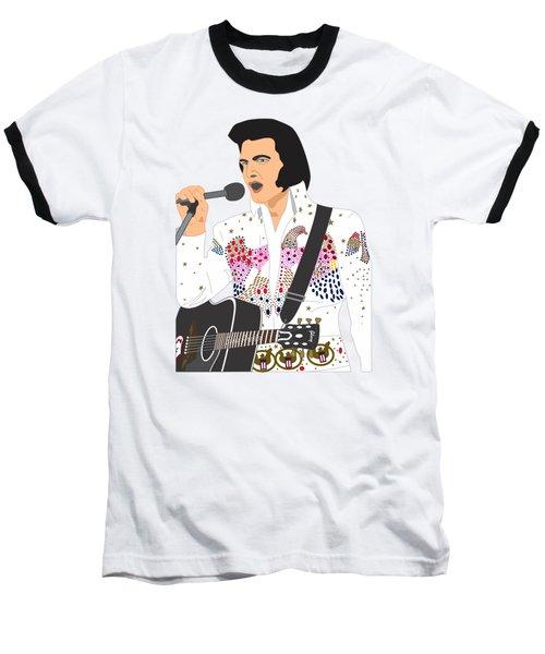 Elvis Presley - 1973 Baseball T-Shirt by Troy Arthur Graphics