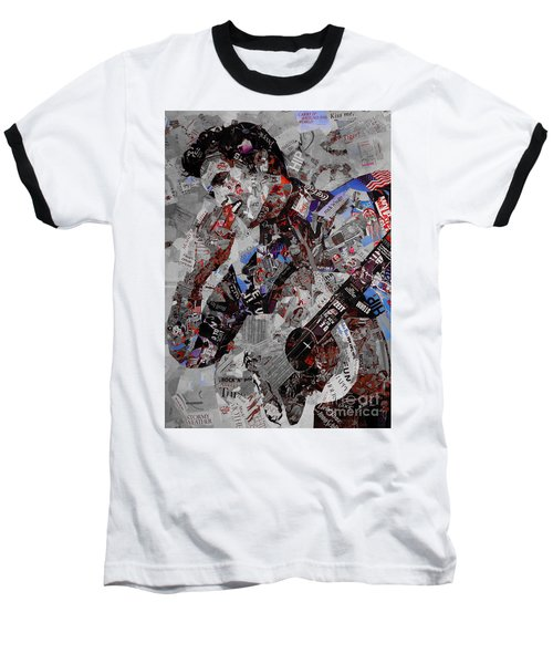 Elvis Presley Collage Baseball T-Shirt by Gull G