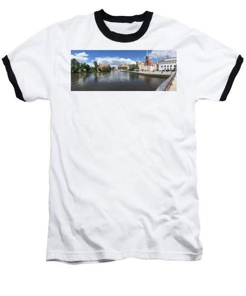 Embankment Of Trave In Luebeck Baseball T-Shirt