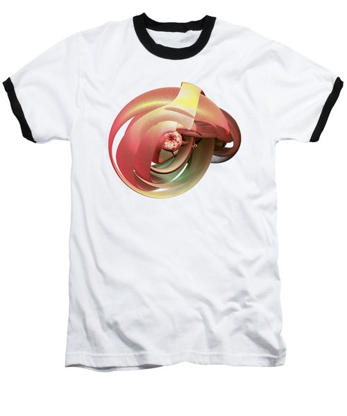 Embryo Abstract Baseball T-Shirt by Linda Phelps