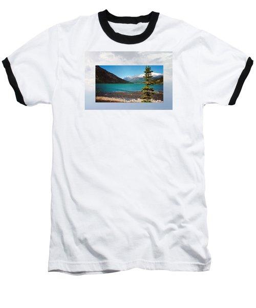 Emerald Lake Chilkoot Trail Alaska Baseball T-Shirt by Tina M Wenger