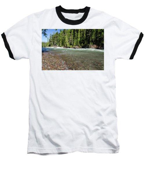 Emerald Waters Flow Baseball T-Shirt