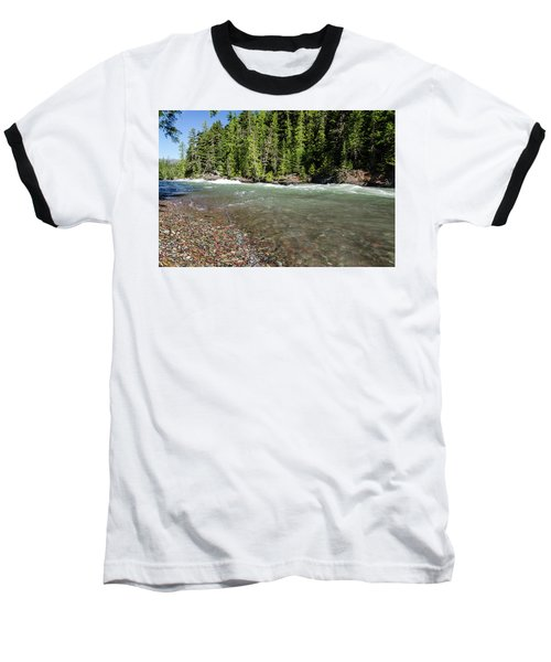 Emerald Waters Flow Baseball T-Shirt