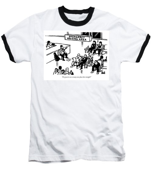 Emergency Waiting Area Baseball T-Shirt