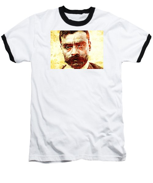 Emiliano Zapata Baseball T-Shirt by J- J- Espinoza