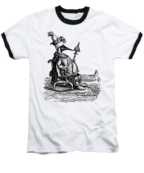 Empire Penguin Grandville Transparent Background Baseball T-Shirt by Barbara St Jean