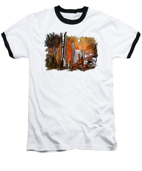 Empire State Reflections Earthy Rainbow 3 Dimensional Baseball T-Shirt