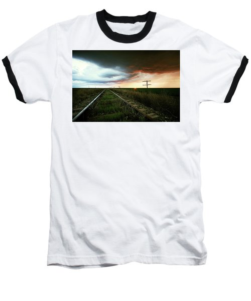 End Of A Stormy Day Baseball T-Shirt