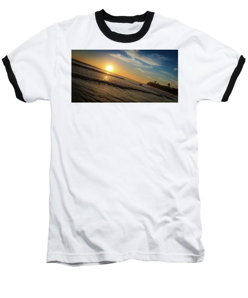 End Of Summer Sunset Surf Baseball T-Shirt