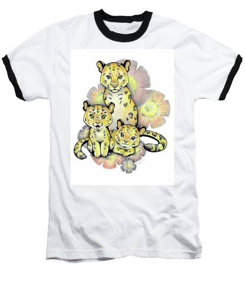 Endangered Animal Amur Leopard Baseball T-Shirt
