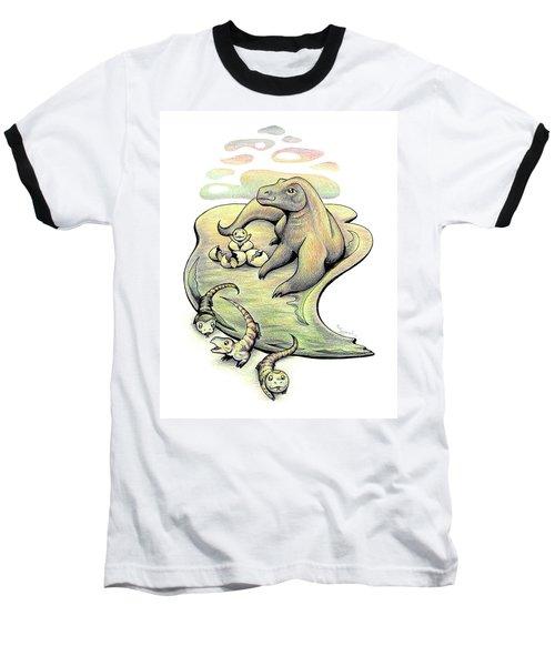 Endangered Animal Komodo Dragon Baseball T-Shirt